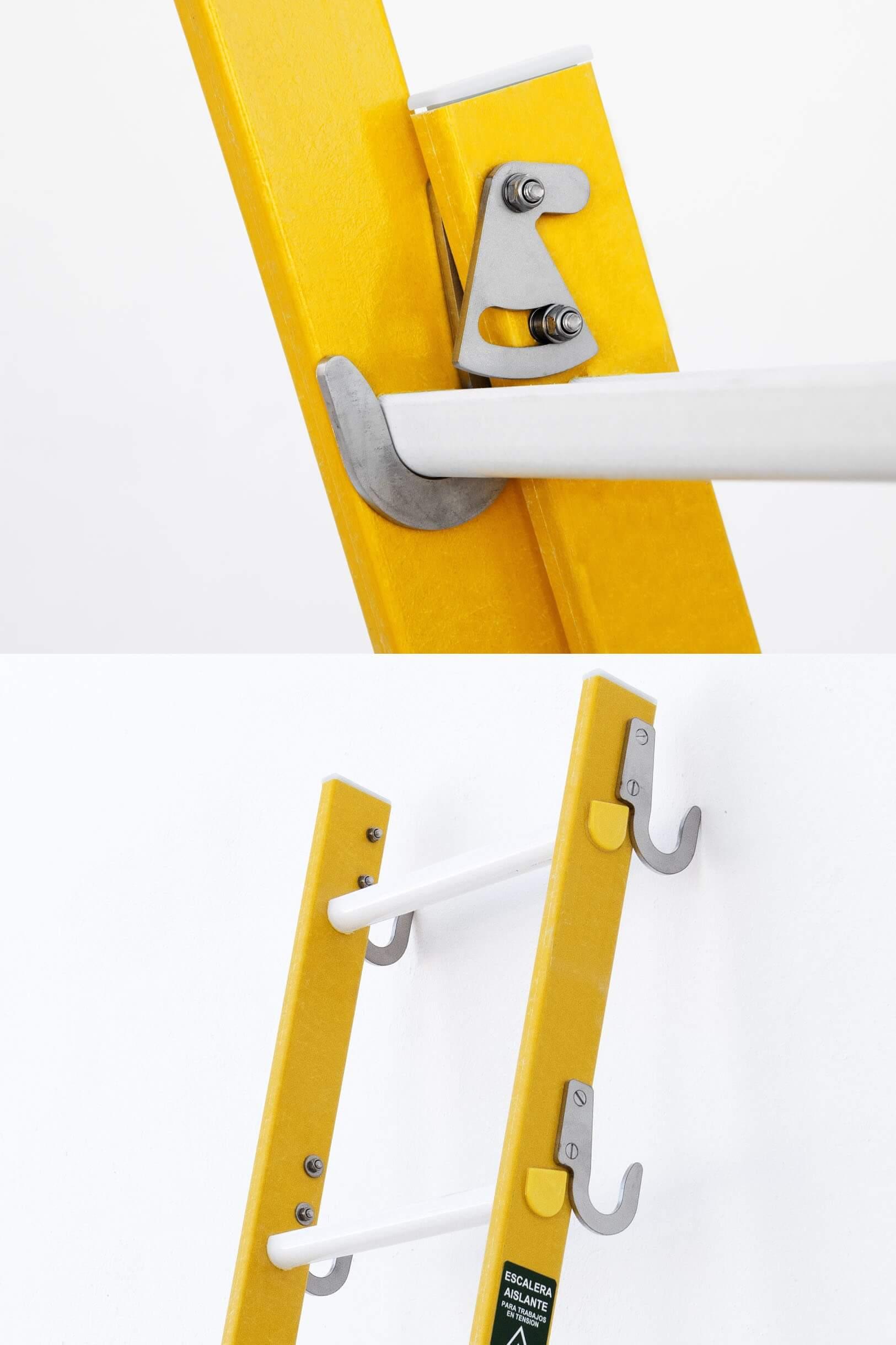 Suplemento base para escalera con 4 ganchos
