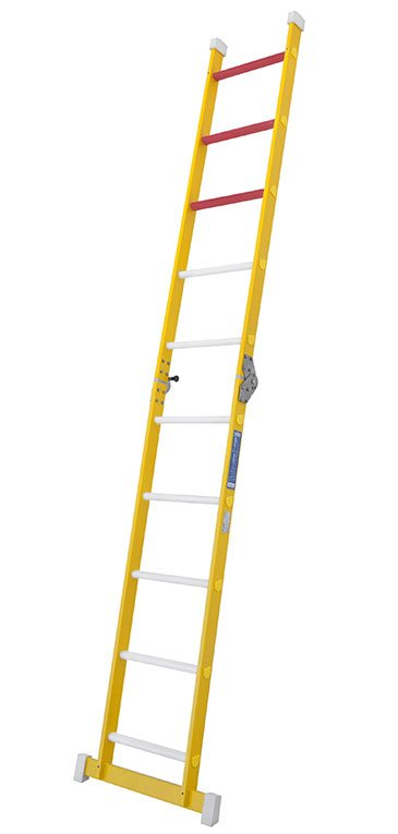 Escalera De Fibra De 1 Tramo Plegable