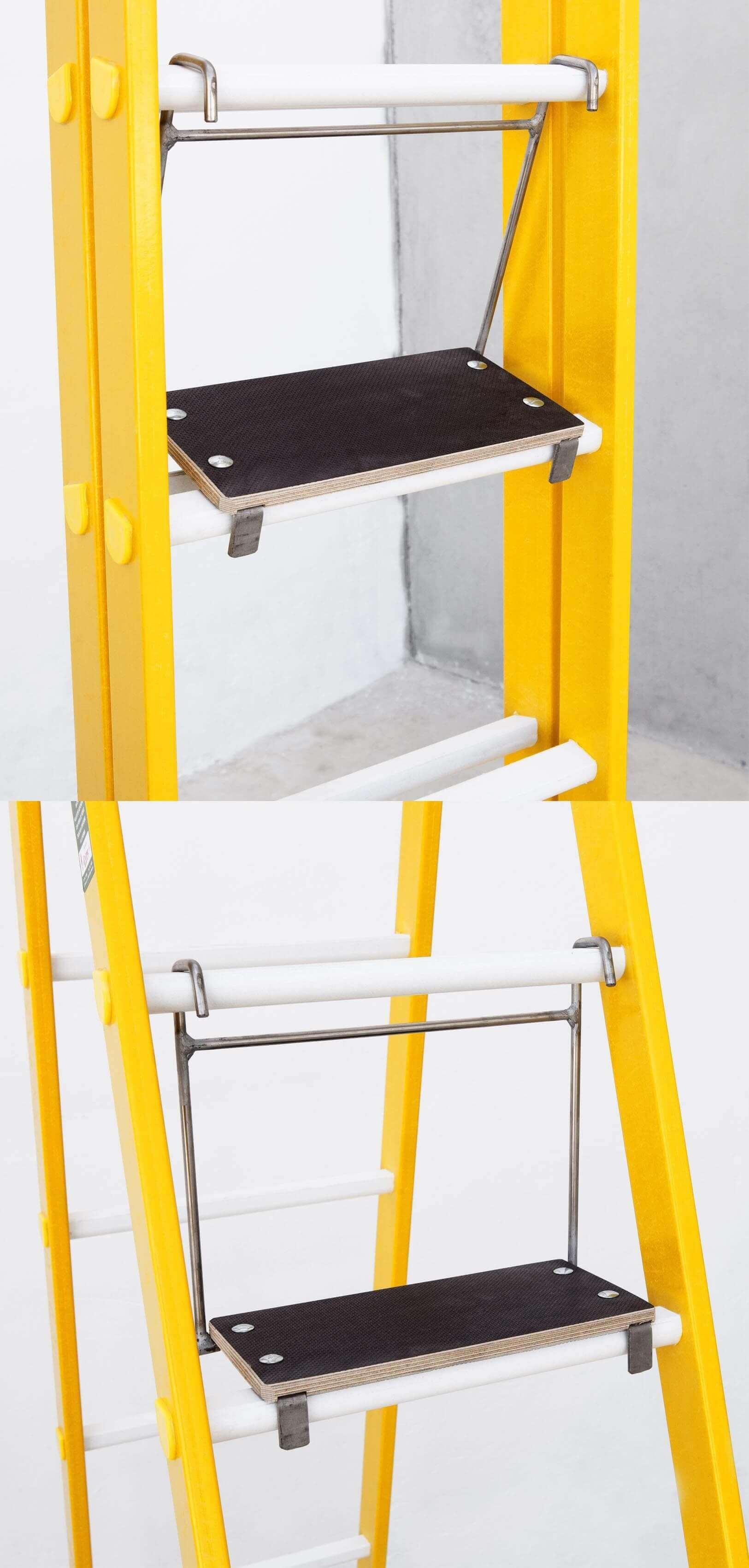Plataforma portátil de 150mm de huella para escalera