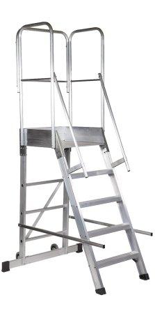 Escalera De Almacén De Aluminio