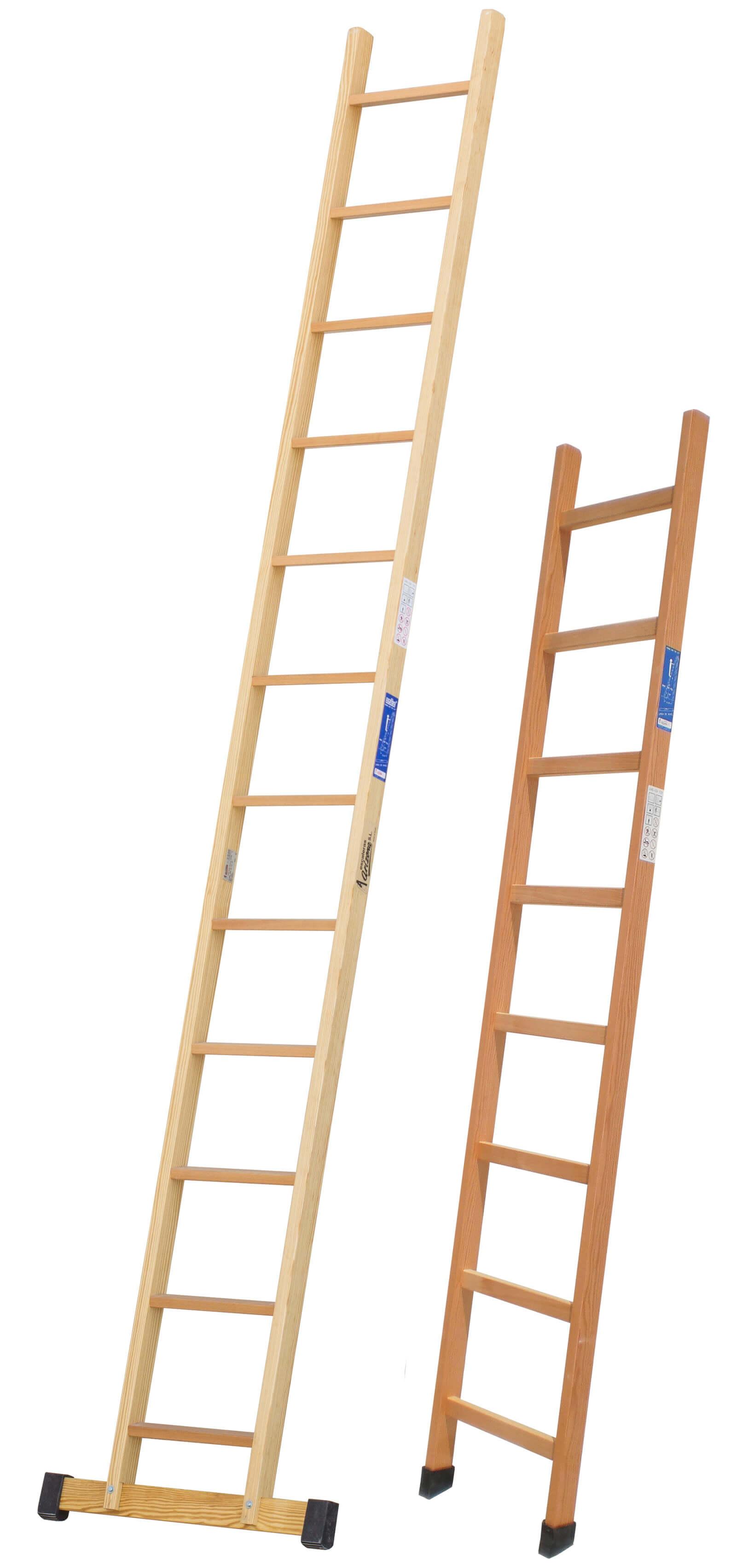 Escalera de madera de 1 tramo escaleras arizona for Escalera de jardin de madera