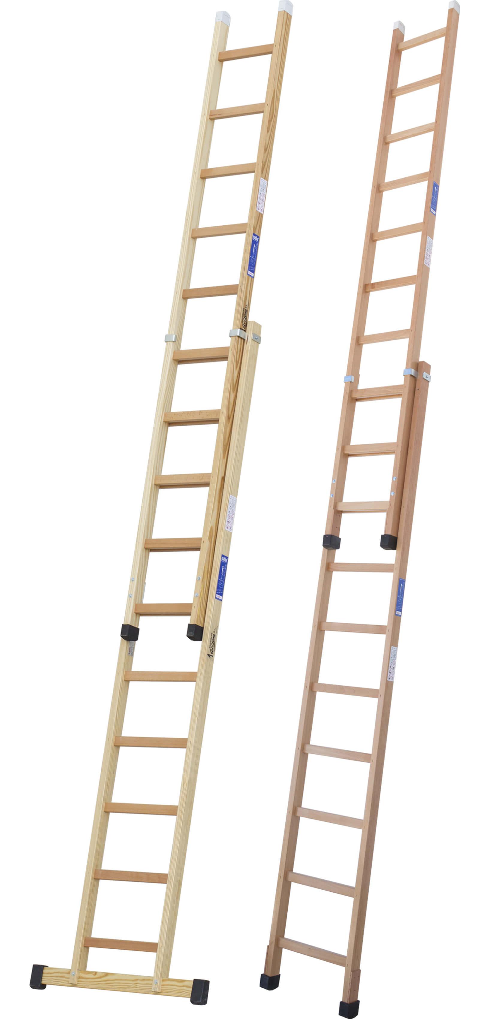 escalera de madera extensible