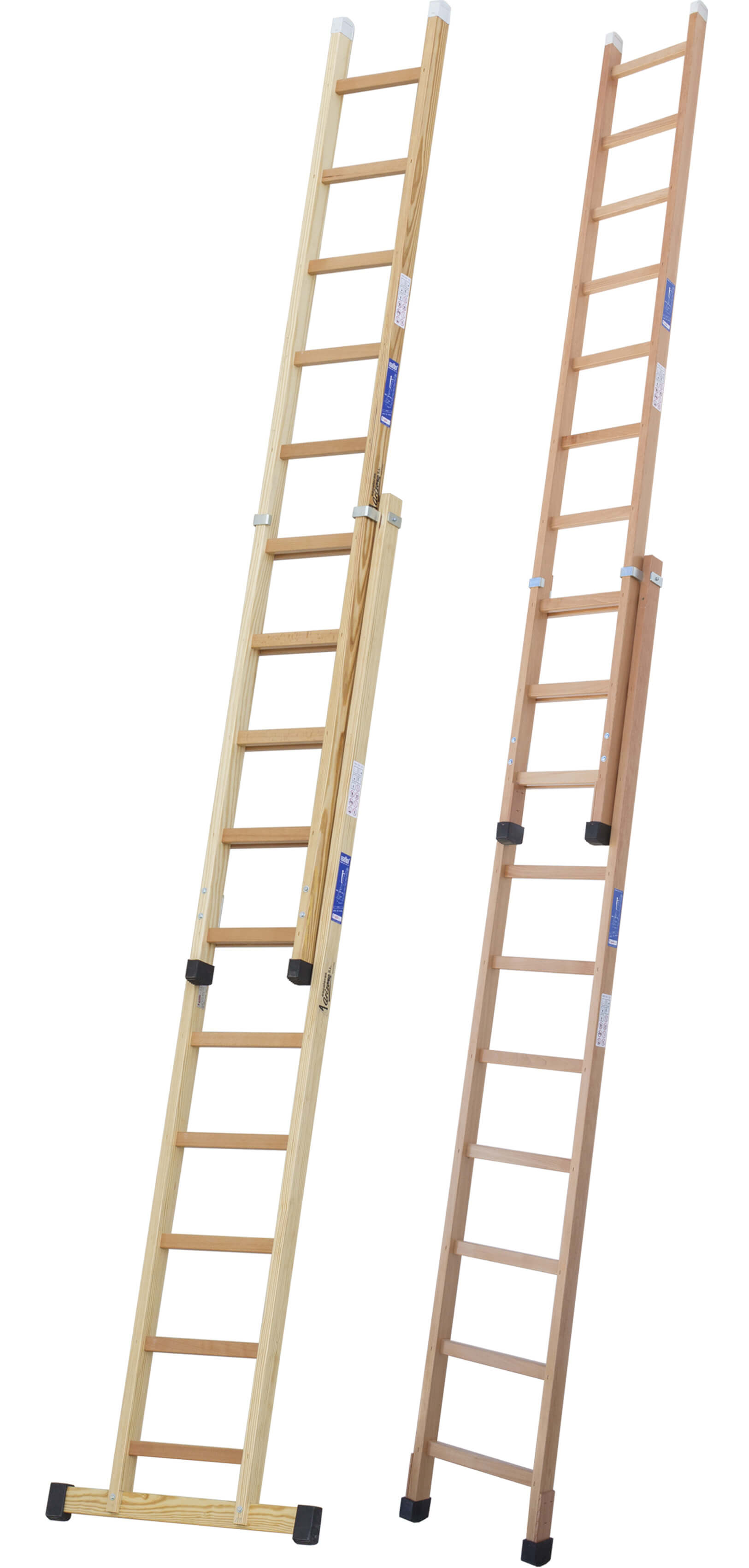 Escalera de madera extensible manual escaleras arizona - Escaleras de madera ...