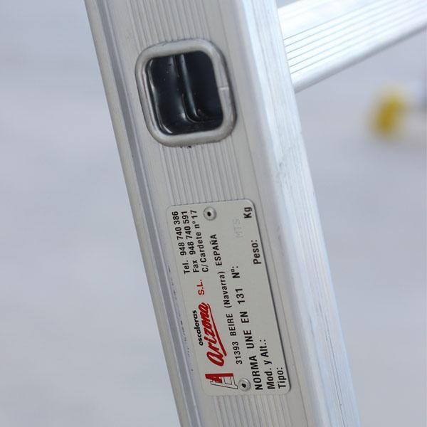 Chapa Identificativa Escalera Aluminio