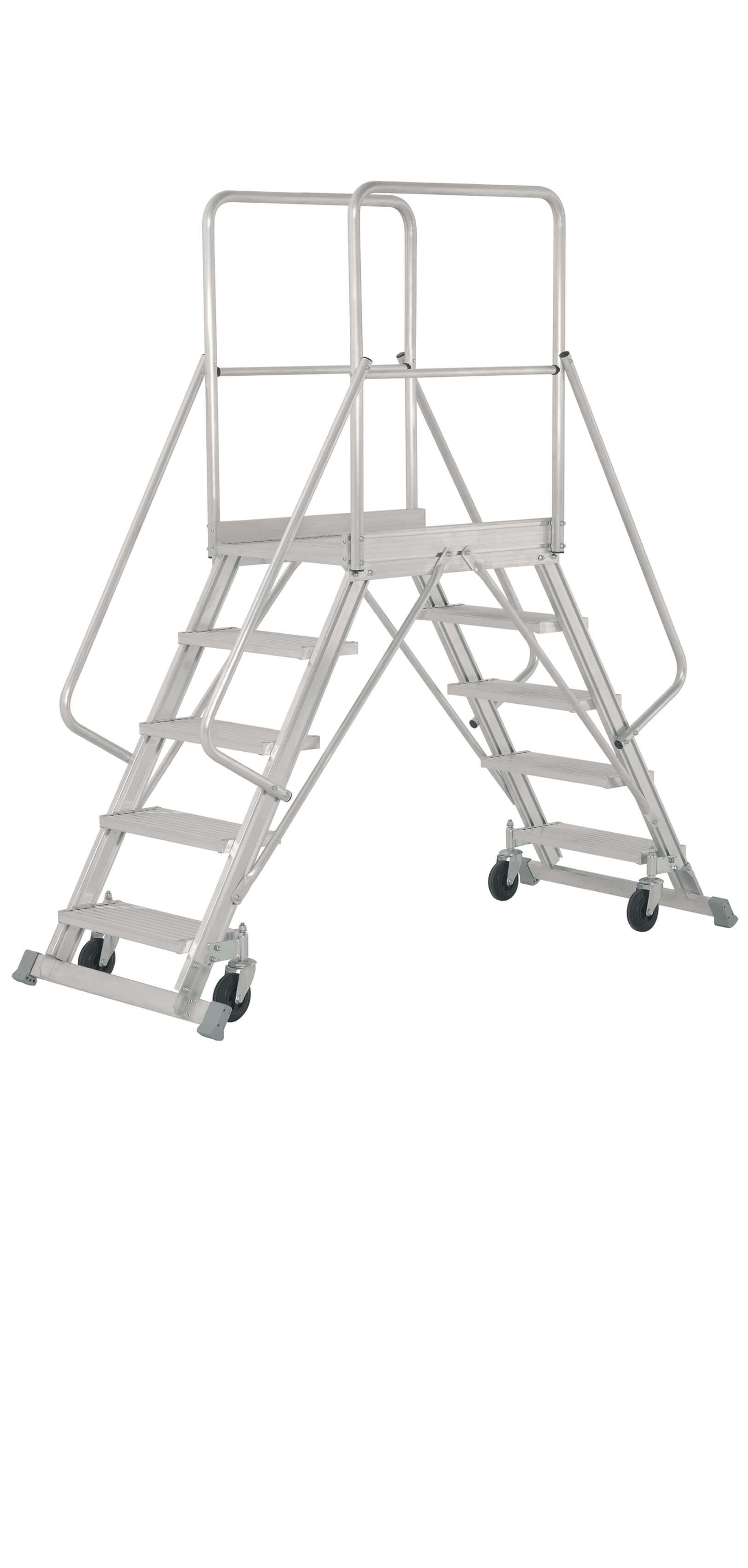 Escalera De Almacén De Aluminio De Doble Subida