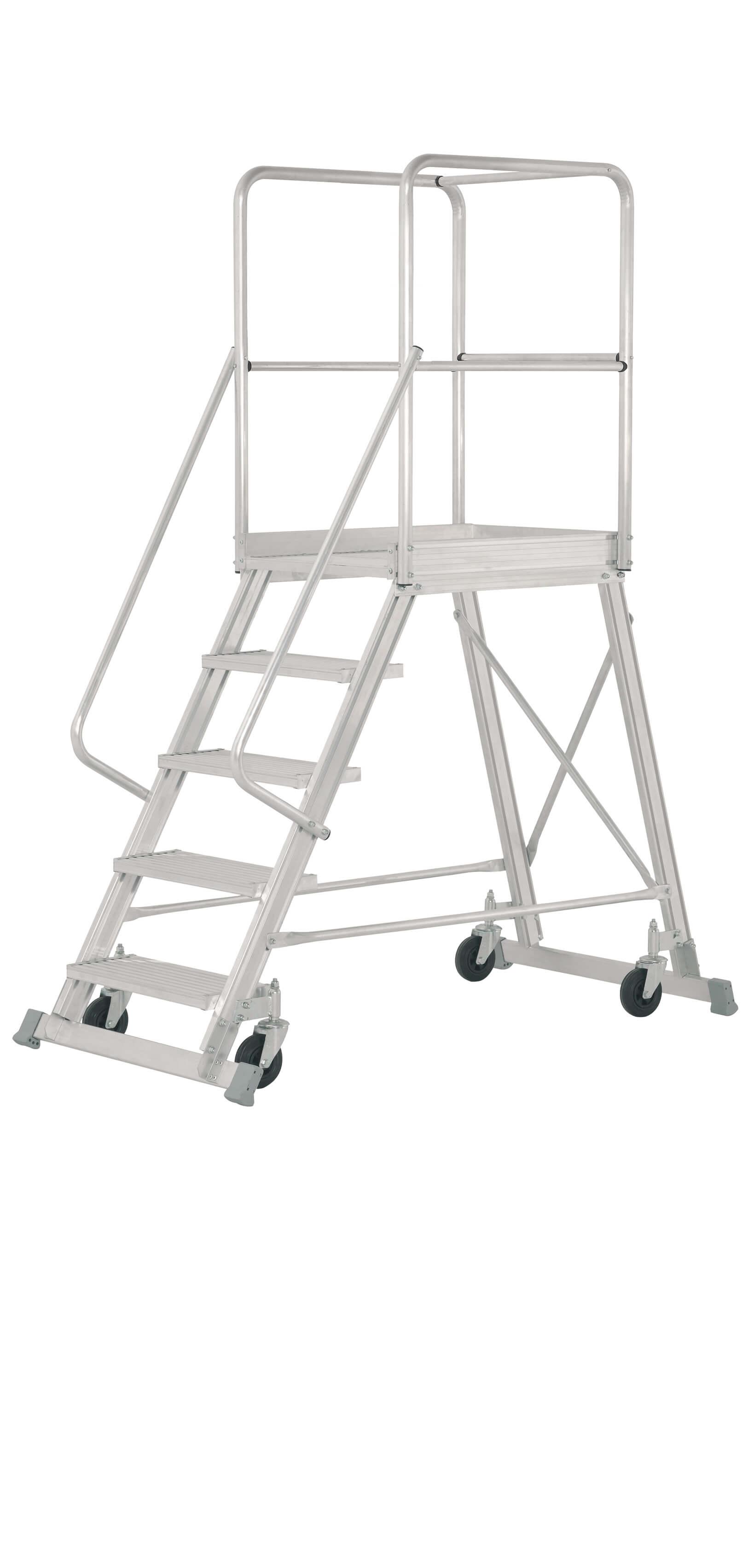 Escalera De Aluminio Para Almacén