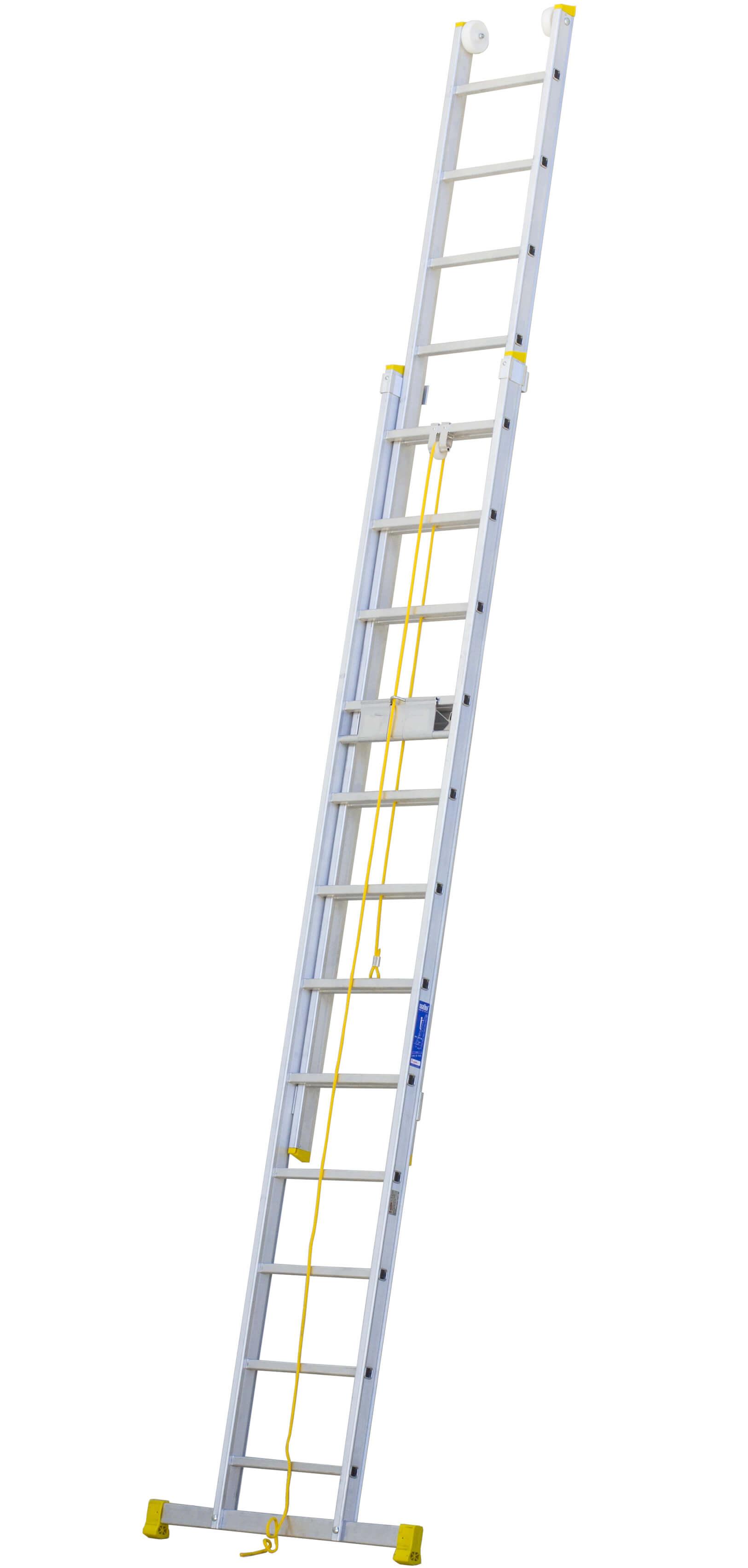 Escalera De Aluminio Extensible A Cuerda