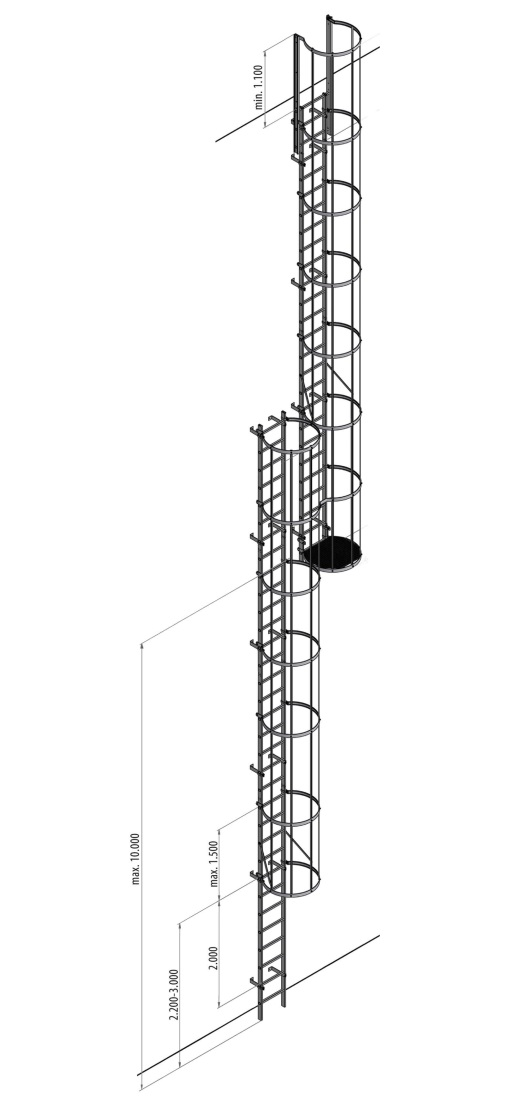 Escalera Vertical Fija De Aluminio