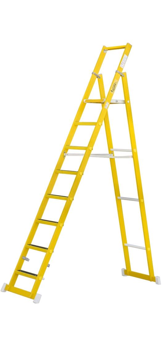 Escalera De Tijera Plegable Con Plataforma